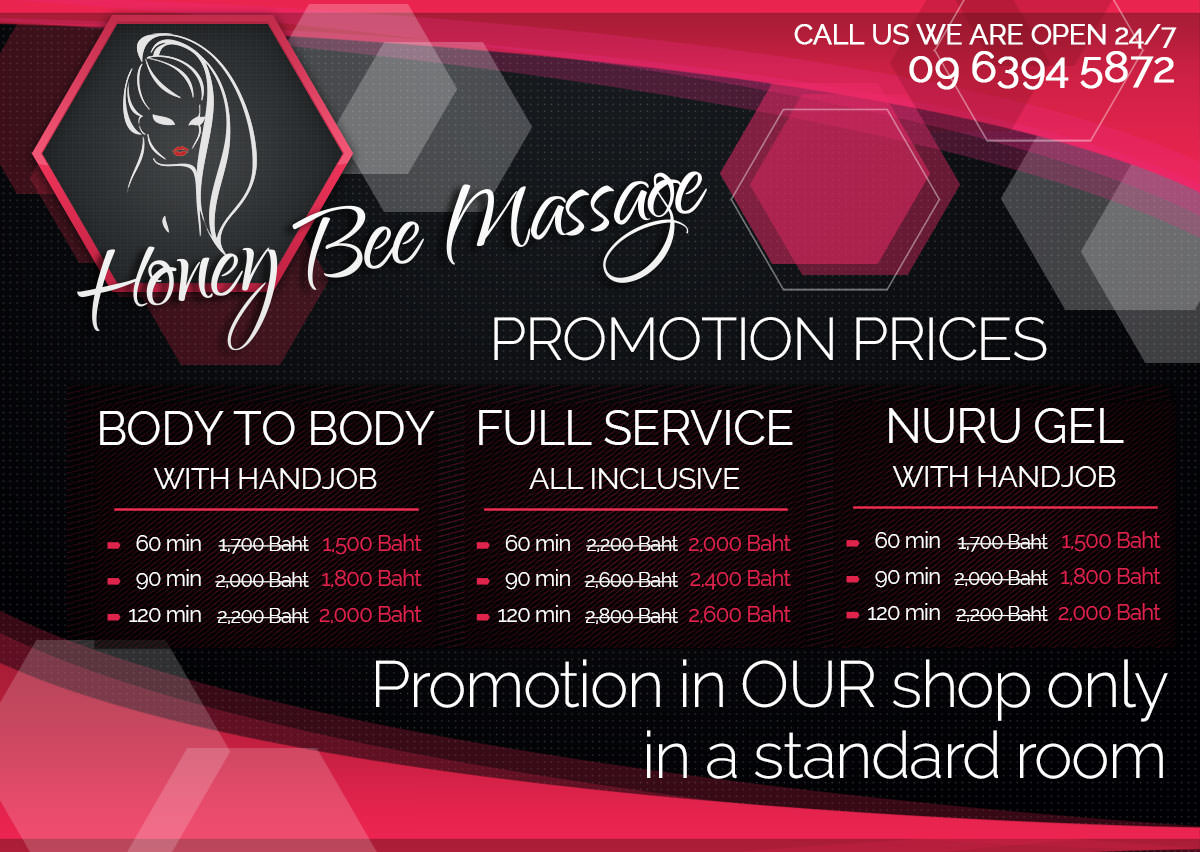 HoneyBee promotion happy ending and full service massage